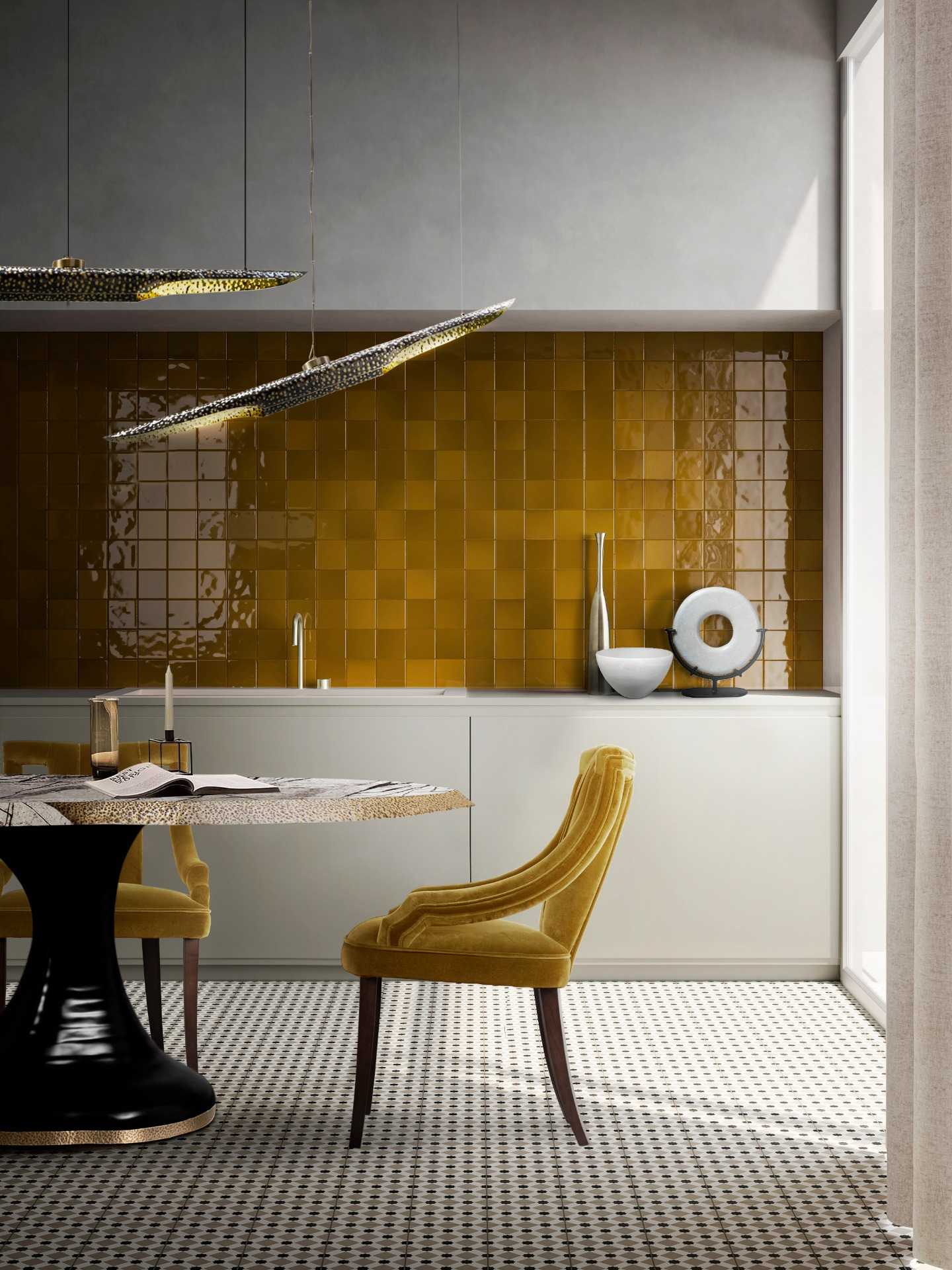Insplosion_Yellow_Colored_Dining_Room_Brabbu-color-trend