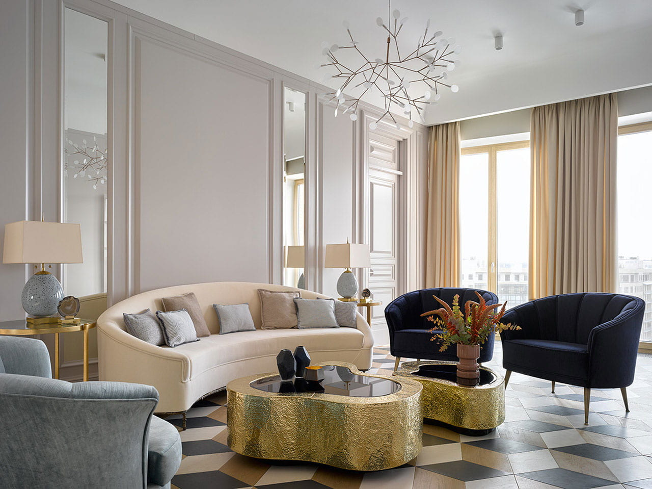 3 Gold Living Room Ideas for your design project | Insplosion