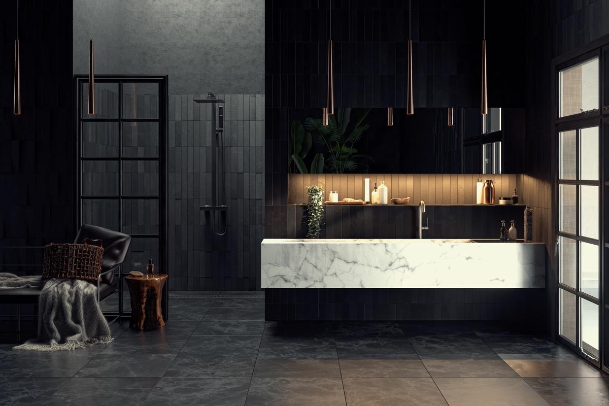 10 Black Bathroom Inspirations