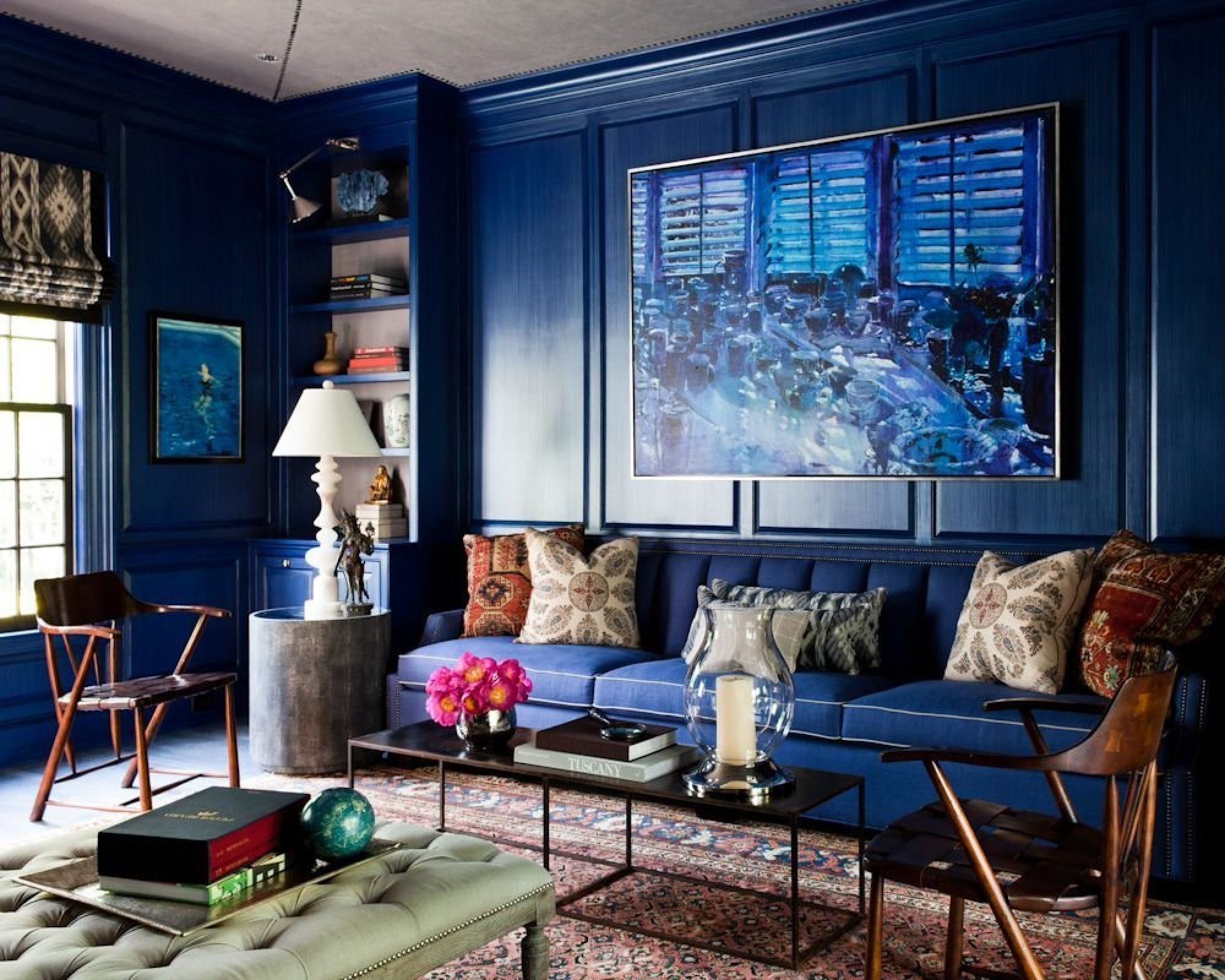 blue office in luxury offices paint colors