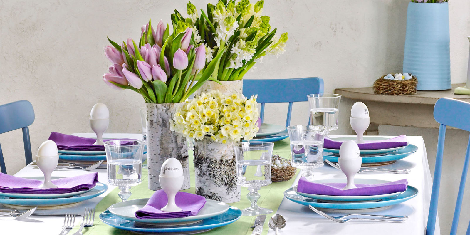 egg decorations by easter table setting ideas