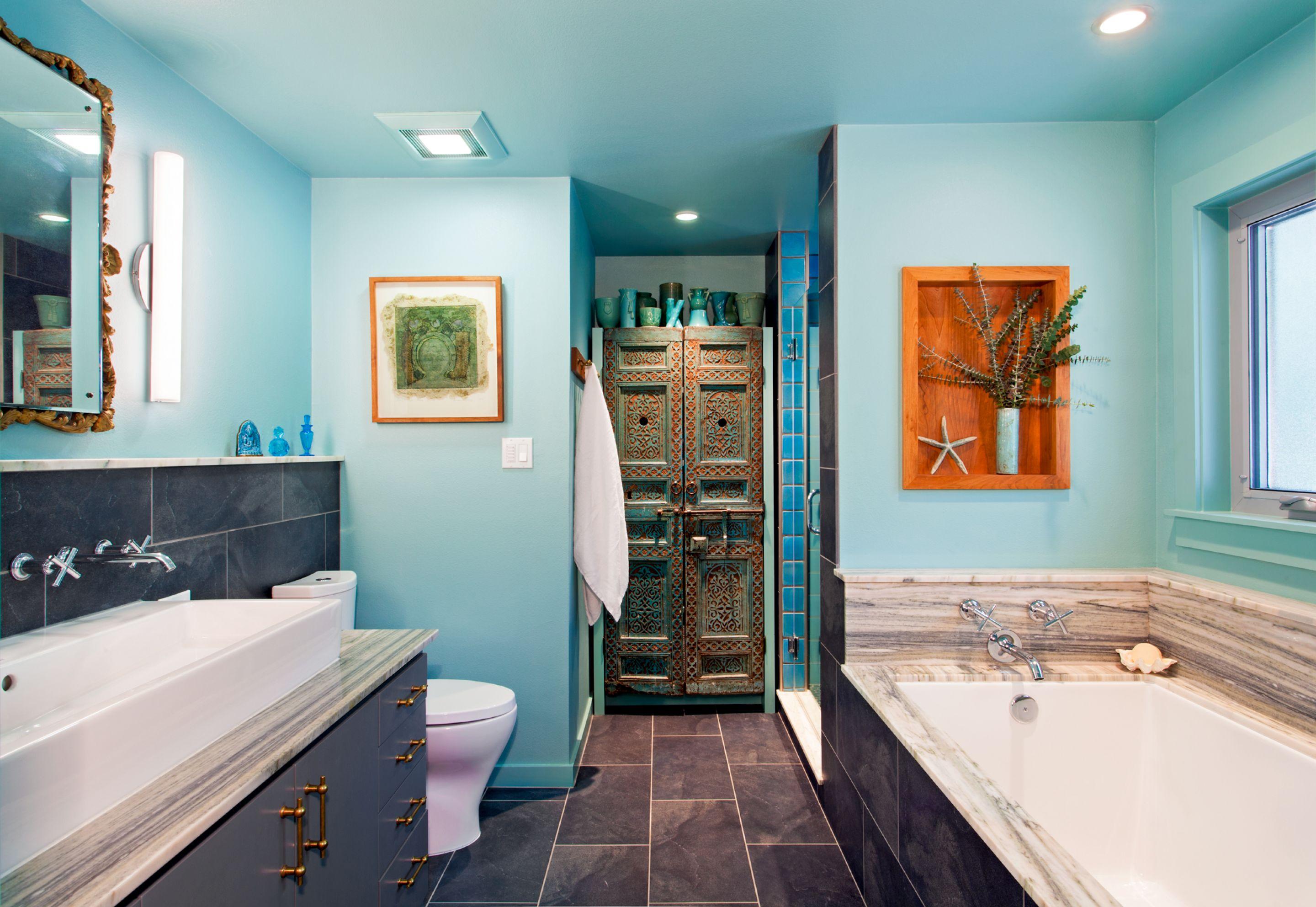 a nautical bathroom of Blue bathroom inspirations for your design project