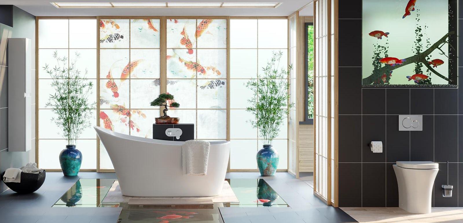 an oriental bathrrom of Best Modern Bathroom Inspirations