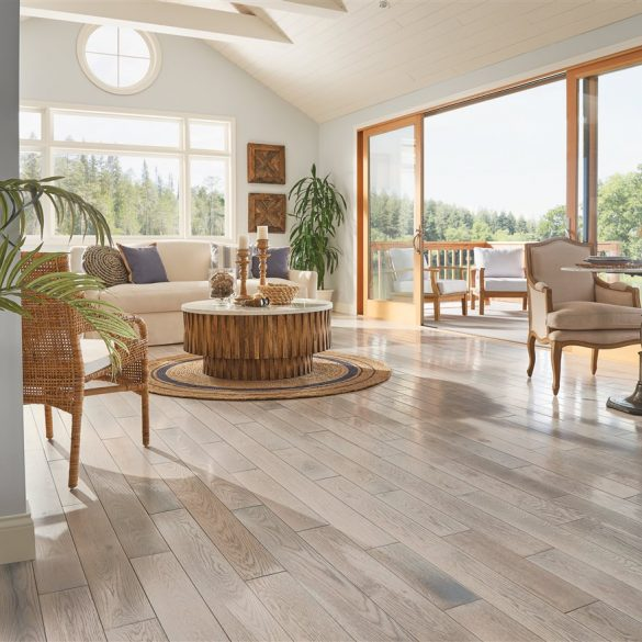 A living room based on the wood interior winter trend.