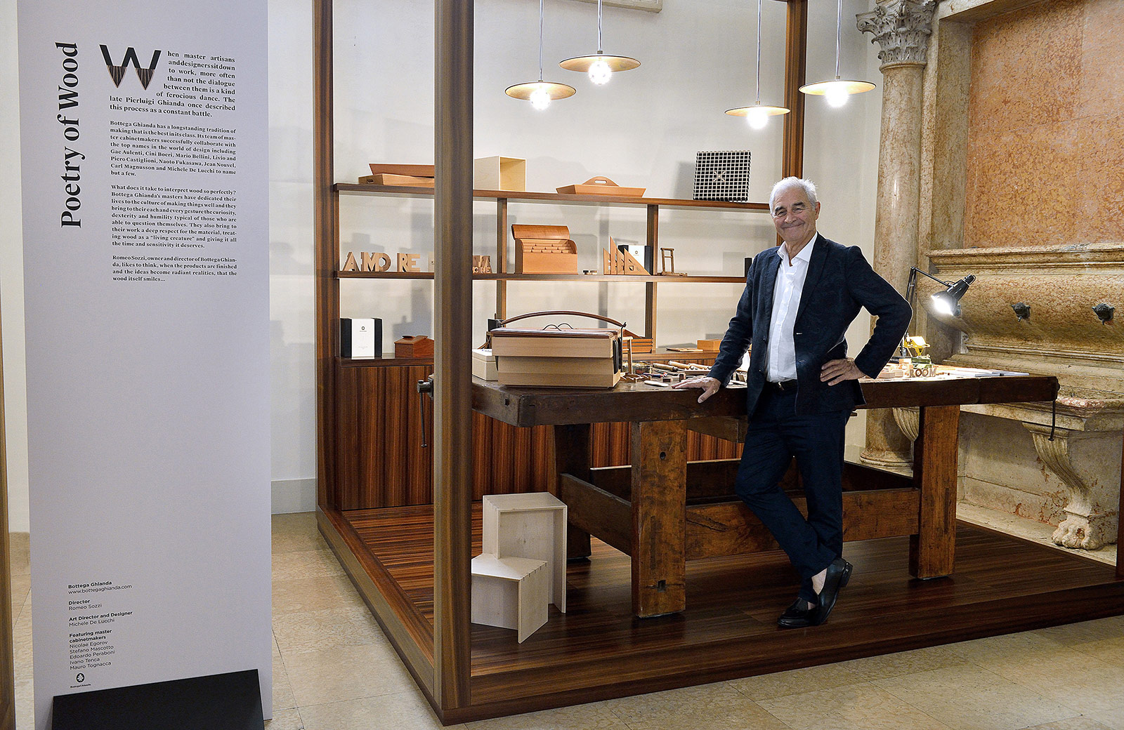 exhibition of Bottega Ghianda at Milan Design Week