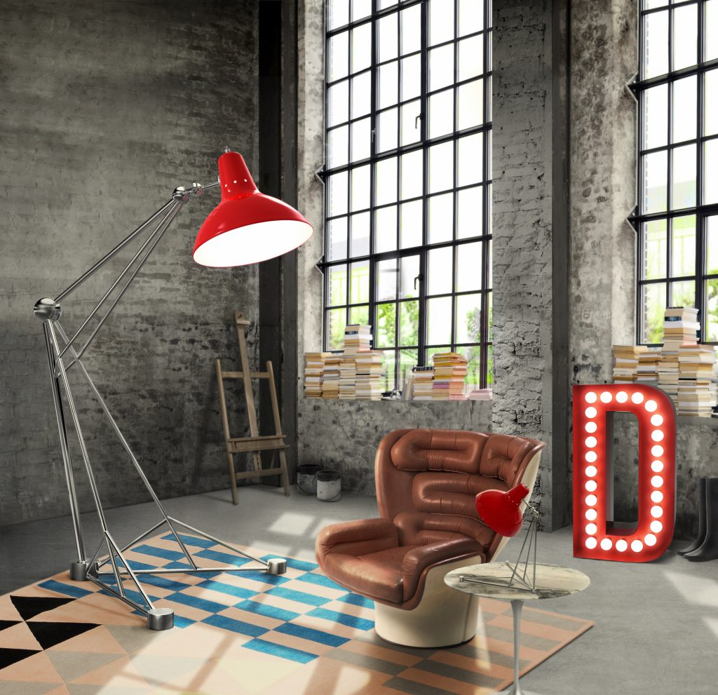 delightfull diana floor lamp of The Color red article