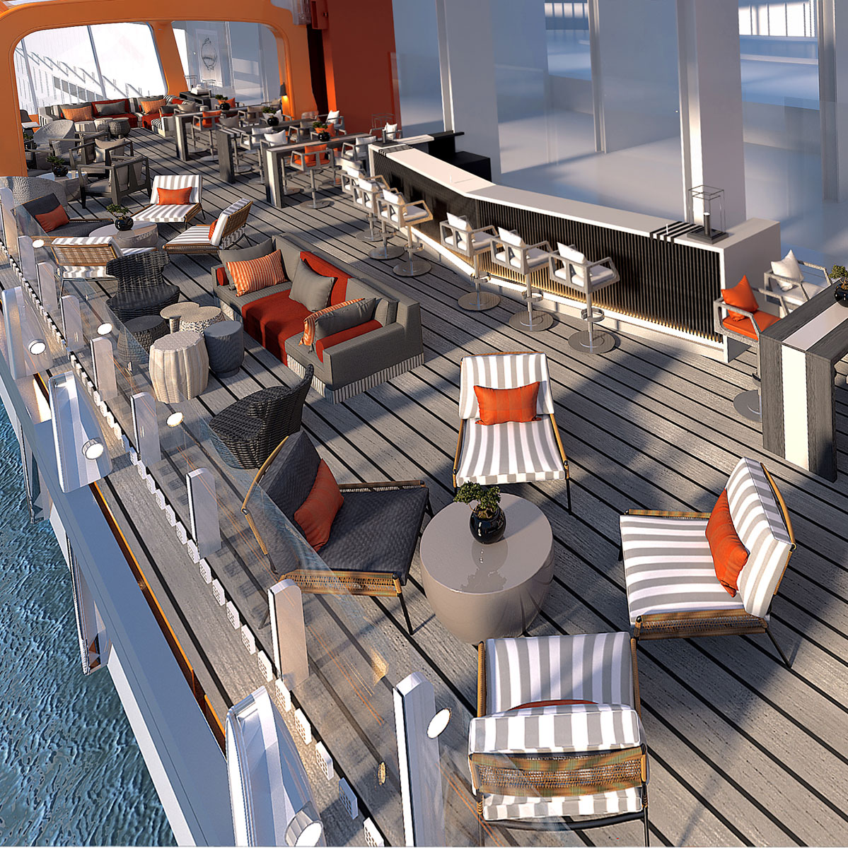 Celebrity Edge cruise's Magic Carpet