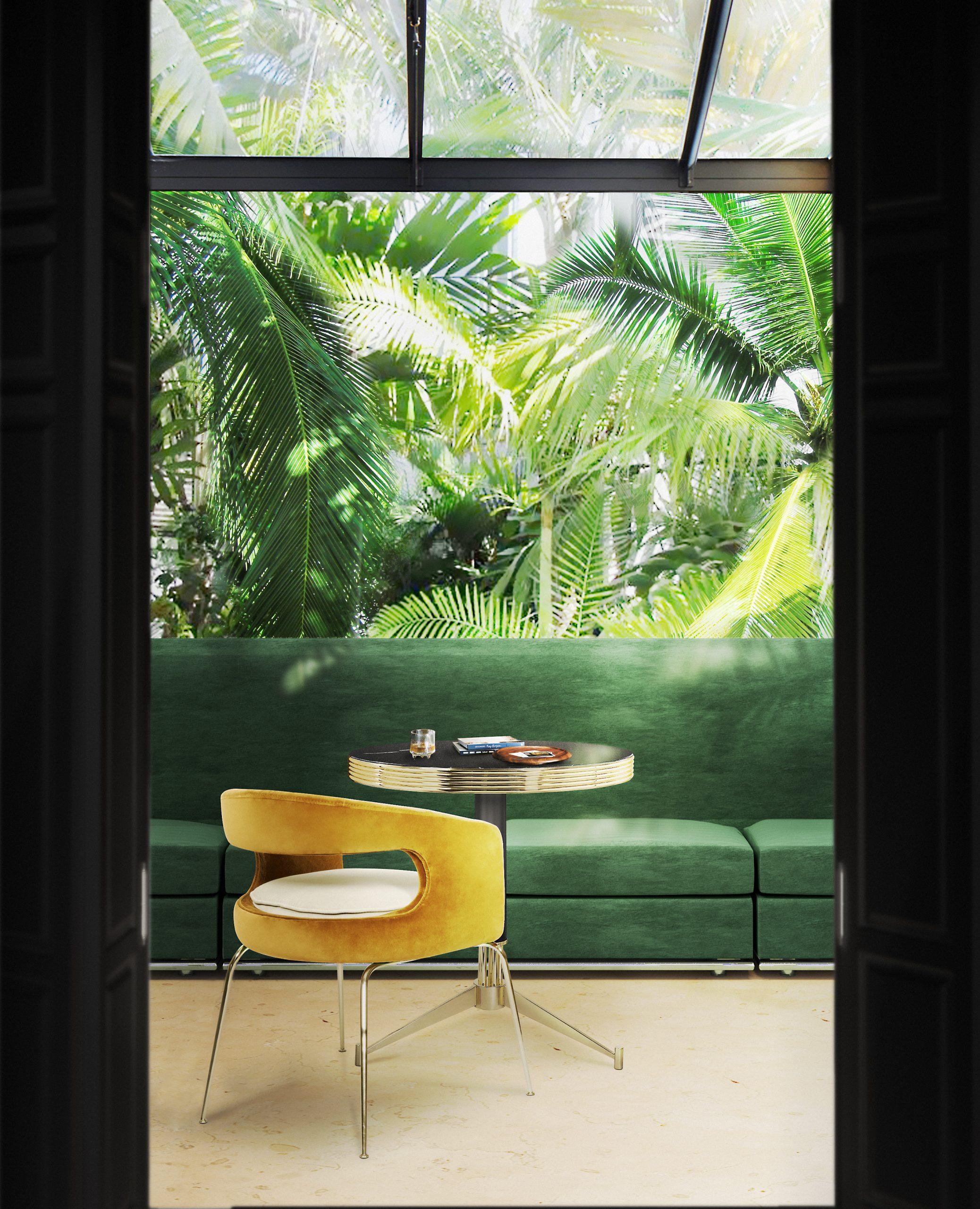 Bright tropical entryway