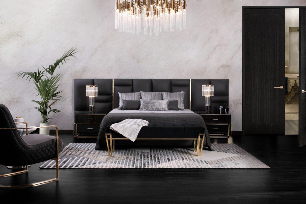 Black Friday Bedroom Interior Design by Luxxu