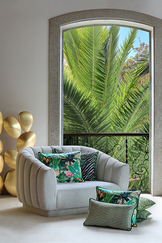 Earthy interior living room