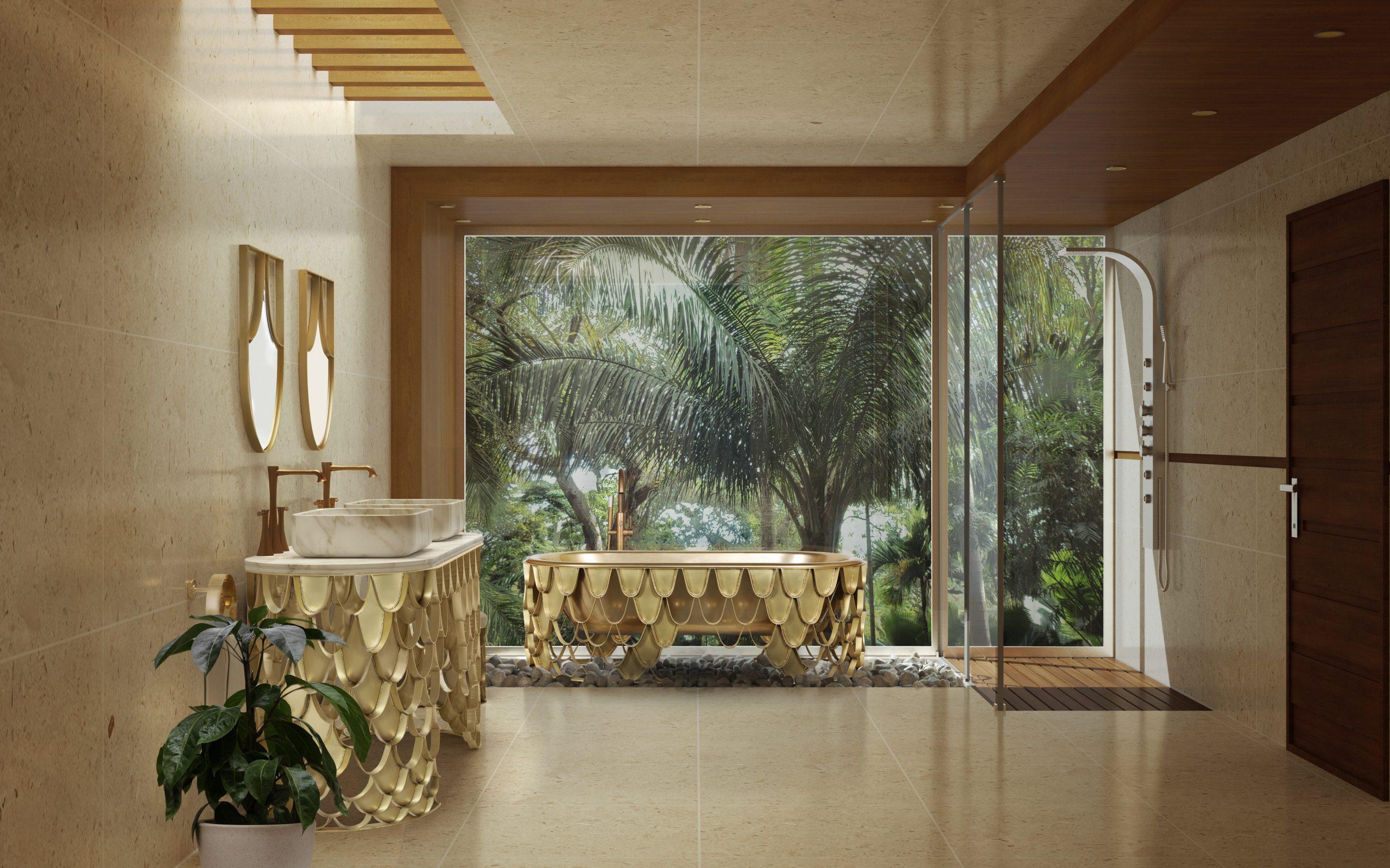 Earthy interior bathroom