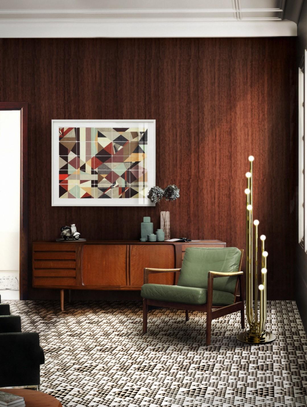 Wood interior living room