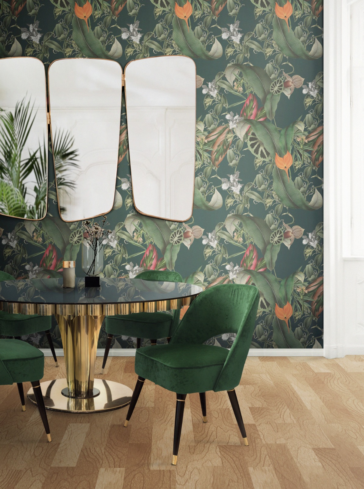 Nature pattern dining room