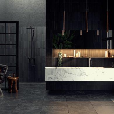 black bathroom inspiration
