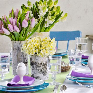 An easter table by easter table setting ideas